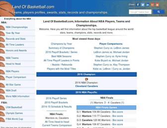 landofbasketball.com screenshot