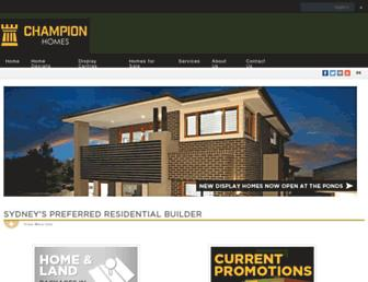 championhomes.com.au screenshot