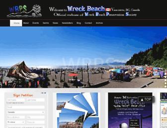 wreckbeach.org screenshot