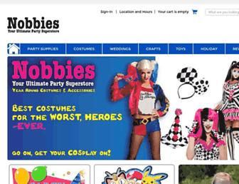 nobbiesparties.com screenshot