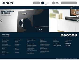 usa.denon.com screenshot