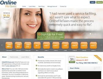 onlinefiletaxes.com screenshot