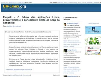 Main page screenshot of br-linux.org