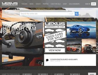 Main page screenshot of lexusownersclub.co.uk