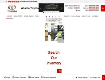 atlantatoyota.com screenshot