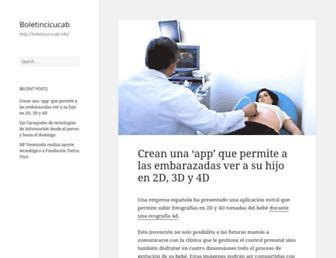Main page screenshot of boletincicucab.info