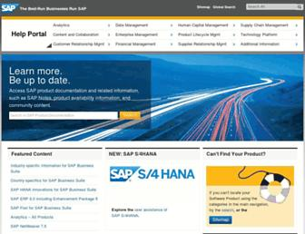 help.sap.com screenshot