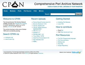 Thumbshot of Cpan.org