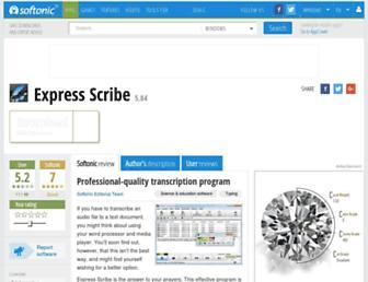 express-scribe.en.softonic.com screenshot