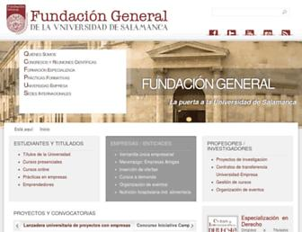 fundacion.usal.es screenshot