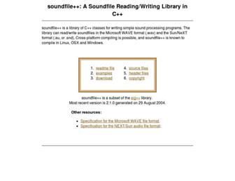 soundfile.sapp.org screenshot