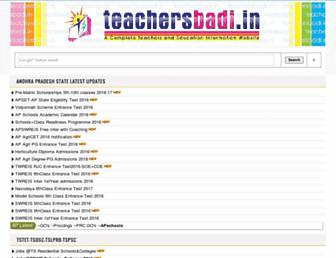 teachersbadi.in screenshot