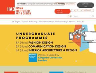 iiad.edu.in screenshot