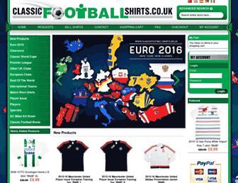 classicfootballshirts.co.uk screenshot