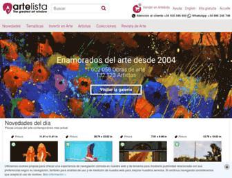 artelista.com screenshot