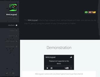 maxjoypad.com screenshot