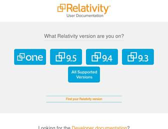 help.relativity.com screenshot