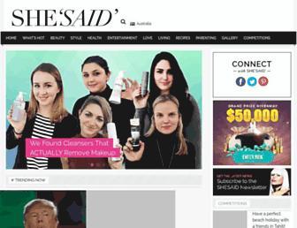 Thumbshot of Shesaid.com.au