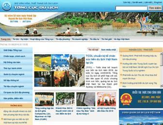 vietnamtourism.gov.vn screenshot
