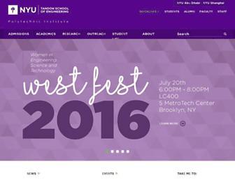 engineering.nyu.edu screenshot