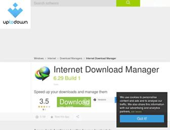 internet-download-manager.en.uptodown.com screenshot