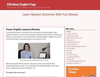 effortlessenglishpage.com screenshot
