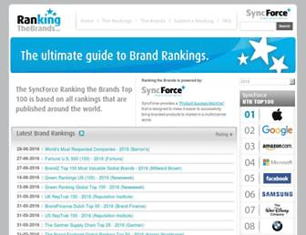 Thumbshot of Rankingthebrands.com