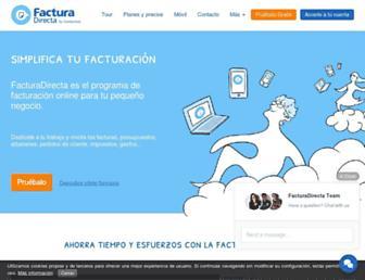 facturadirecta.com screenshot