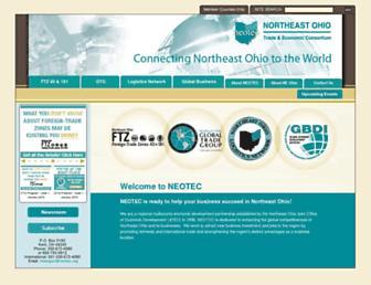 Main page screenshot of neotec.org