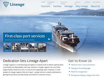 lineagelogistics.com screenshot