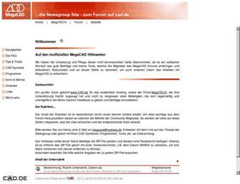 Main page screenshot of megacad.cad.de