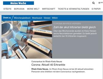 Main page screenshot of stadt-spiegel-viersen.de