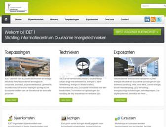 Main page screenshot of idet.nl