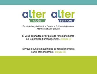 Main page screenshot of sara-angers.fr