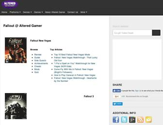 fallout.alteredgamer.com screenshot