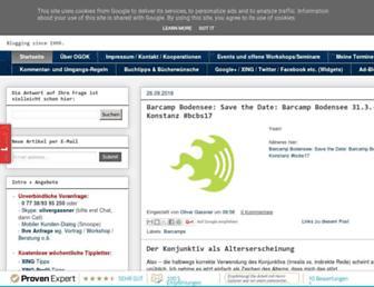 Main page screenshot of blog.oliver-gassner.de