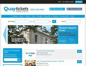 Screenshot for quaytickets.com