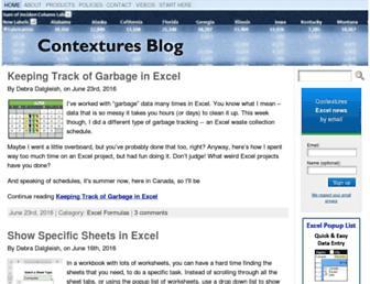 blog.contextures.com screenshot