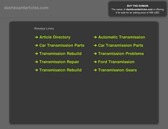 Thumbshot of Dashboardarticles.com