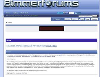 Main page screenshot of bimmerforums.co.uk