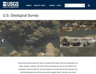 Main page screenshot of usgs.gov