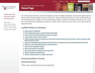 catalog.wsu.edu screenshot