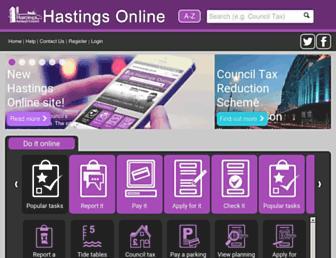 Main page screenshot of hastings.gov.uk
