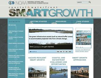 Main page screenshot of coastalsmartgrowth.noaa.gov
