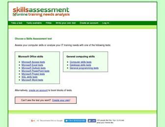 skills-assessment.net screenshot