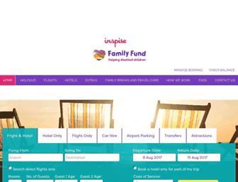 familyfund.travelbyinspire.co.uk screenshot