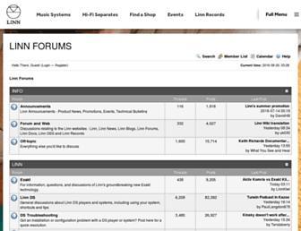 forum.linn.co.uk screenshot