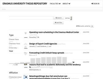 thesis.eur.nl screenshot