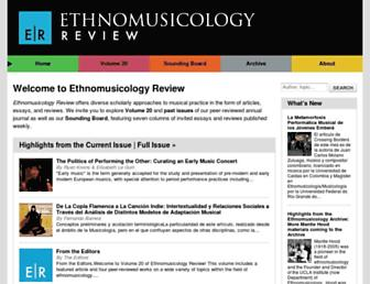 ethnomusicologyreview.ucla.edu screenshot