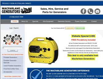 macfarlanegenerators.com.au screenshot